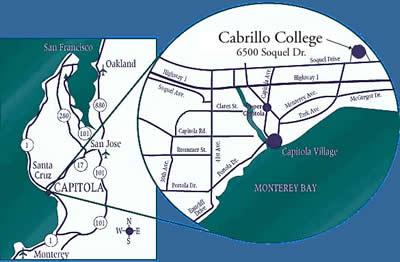Map to Cabrillo College Cabrillo Map on
