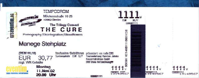The Trilogy Shows - Berlin, Germany (11-11-02)
